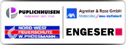 AXA Center Agreiter & Rose GmbH, Engeser GmbH, Nord-West Feuerschutz W. Prüssmann OHG, Karl Püplichhuisen KG